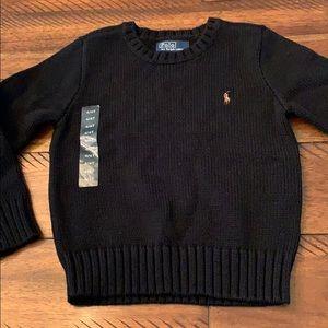 Polo Ralph Lauren NWT Black Crew Neck Sweater 4T